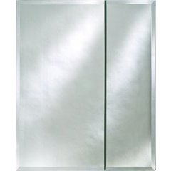 """Broadway 25"""" Wall Mount Mirrored Medicine Cabinet - Beveled"""