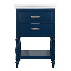 24 Inches Free Standing Cherie Vanity with VC Top - Royal Blue <small>(#CHBVT2435)</small>