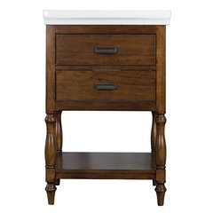 24 Inches Free Standing Cherie Vanity with VC Top - Dark Walnut