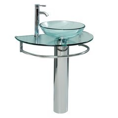 "Attrazione 30"" Modern Glass Bathroom Pedestal"
