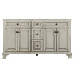 60 Inches Free Standing Corsicana Vanity - Antique Grey
