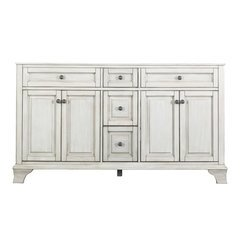 60 Inches Free Standing Corsicana Vanity Antique White - Antique White