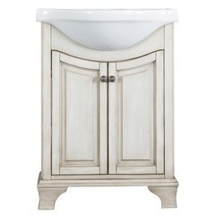 25 Inches Free Standing Corsicana Vanity with Top - Antique White