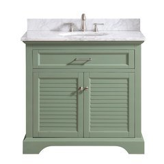 "37"" Colton Combo Vanity - Carrara White Marble Top"