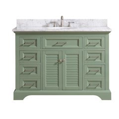 "49"" Colton Combo Vanity - Carrara White Marble Top"