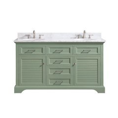 "61"" Colton Combo Vanity - Carrara White Marble Top"