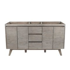 60 Inch Coventry Vanity Only - Gray Teak