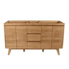 60 Inch Coventry Vanity Only - Natural Teak