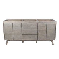 72 Inch Coventry Vanity Only - Gray Teak