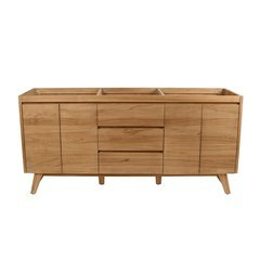 72 Inch Coventry Vanity Only - Natural Teak