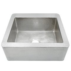"""25"""" x 19"""" Farmhouse Apron Kitchen Sink - Brushed Nickel <small>(#CPK570)</small>"""