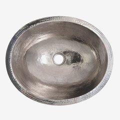 19x16 Inch Classic Rectangular Undermount Bathroom Sink - Polished Nickel