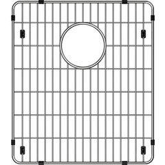 "Crosstown 13-1/2"" x 15-1/2"" x 1-1/4"" Bottom Grid - Polished Stainless Steel"