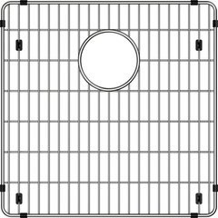 "Crosstown 15-1/2"" x 15-1/2"" x 1-1/4"" Bottom Grid - Polished Stainless Steel"