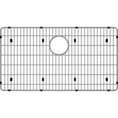"Crosstown 26-3/8"" x 14-3/8"" x 1-1/4"" Bottom Grid - Polished Stainless Steel"