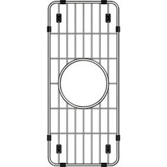 """Crosstown 6-1/4"""" x 14-1/2"""" x 1-1/4"""" Bottom Grid - Polished Stainless Steel"""