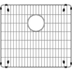 """Crosstown 18-1/8"""" x 16-1/8"""" x 1-1/4"""" Bottom Grid - Polished Stainless Steel"""