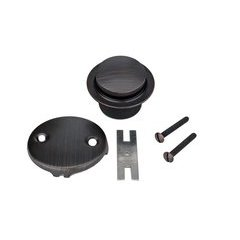 Tub Drain Trim and Two-Hole Overflow Cover for Bath Tubs - Oil Rubbed Bronze <small>(#D-302ORB)</small>
