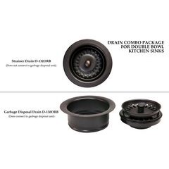Drain Combination Package for Double Bowl Kitchen Sinks - Oil Rubbed Bronze