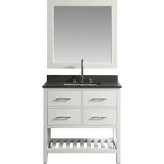 36 Inch London Single Sink Vanity Set - White