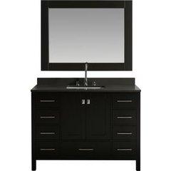 48 Inch London Single Sink Vanity Set - Espresso
