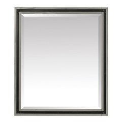 Dexter 30 Inch Beveled Mirror - Rustic Gray