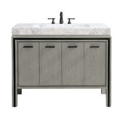 "43"" Dexter Combo Vanity - Integrated Carrara White Marble Top"