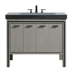 "43"" Dexter Combo Vanity - Integrated Gray Granite Top"