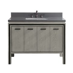 43 Inch Dexter Vanity Combo - Rustic Gray with Gray Quartz Top