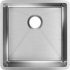 Crosstown 19 Single Bowl Undermount Sink - Polished Satin