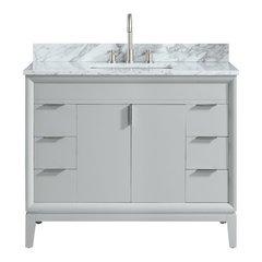 "43"" Emma Combo Vanity - Carrara White Marble Top"