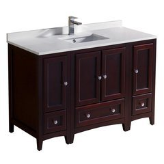 "Oxford 48"" Mahogany Traditional Bathroom Cabinets w/ Top & Sink"