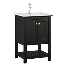 "Manchester 24"" Black Traditional Bathroom Vanity"