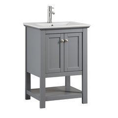 "Manchester 24"" Gray Traditional Bathroom Vanity"