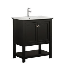 "Manchester 30"" Black Traditional Bathroom Vanity"