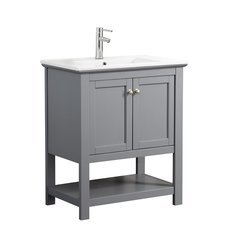 "Manchester 30"" Gray Traditional Bathroom Vanity"