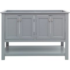 48 Inch Manchester Double Sink Vanity Without Top - Gray