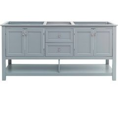 72 Inch Manchester Double Sink Vanity Without Top - Gray
