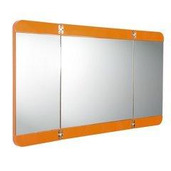 "Energia 48"" Orange Three Panel Folding Mirror"