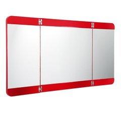 "Energia 48"" Red Three Panel Folding Mirror"