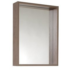 "Potenza 21"" Gray Oak Mirror with Shelf"