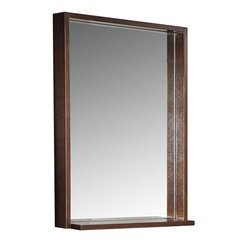 "Allier 22"" Wenge Mirror with Shelf"