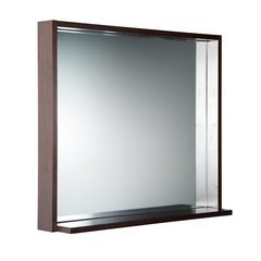 "Allier 30"" Wenge Mirror with Shelf"
