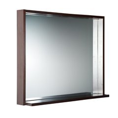 "Allier 36"" Wenge Mirror with Shelf"