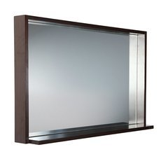 "Allier 40"" Wenge Mirror with Shelf"