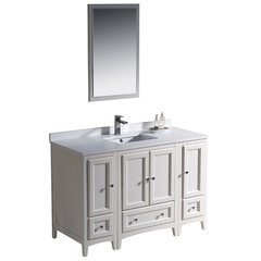 "Oxford 48"" Antique White Traditional Bathroom Vanity"