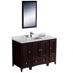 "Oxford 48"" Mahogany Traditional Bathroom Vanity"