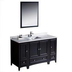 """Oxford 54"""" Espresso Traditional Bathroom Vanity"""
