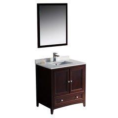 "Oxford 30"" Mahogany Traditional Bathroom Vanity"