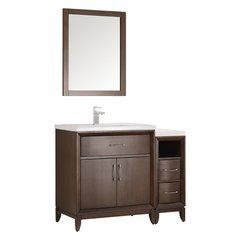 """Cambridge 42"""" Antique Coffee Traditional Bathroom Vanity w/ Mirror"""